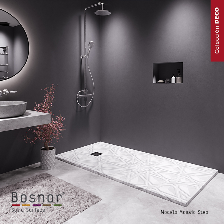 space,Mosaic, a shower tray with starlight