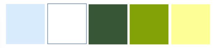 Carta Cromática del modelo Bluish