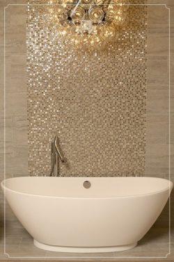bañera dorada